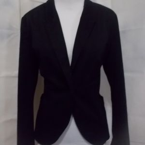 Zara Basic black single button blazer fitted